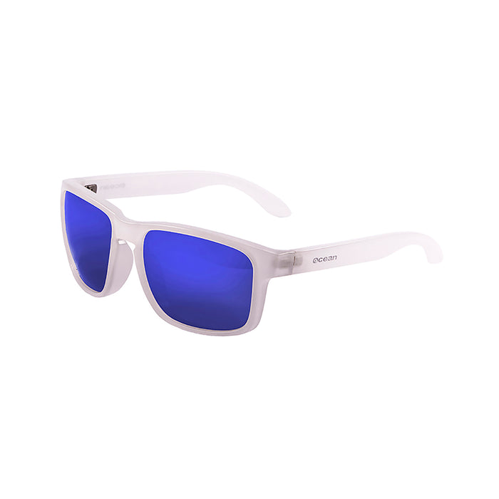 ocean sunglasses KRNglasses model BLUE SKU 19202.18 with shiny blue frame and revo blue lens
