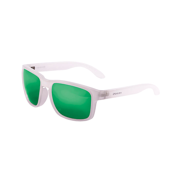 ocean sunglasses KRNglasses model BLUE SKU 19202.17 with light blue frosted frame and revo blue lens