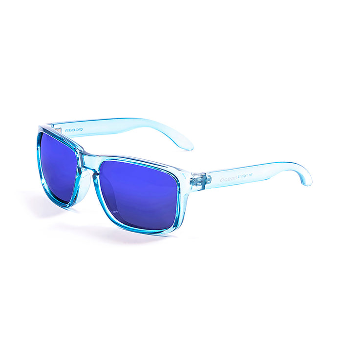 ocean sunglasses KRNglasses model BLUE SKU 19202.8 with matte black frame and smoke lens