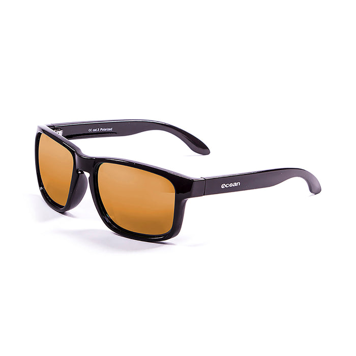 ocean sunglasses KRNglasses model BLUE SKU 19202.31 with matte brown frame and revo orange lens