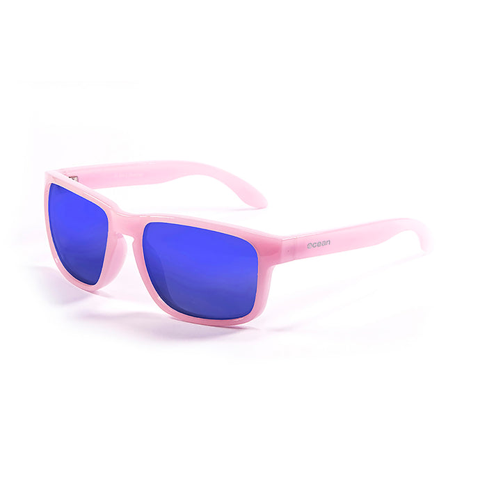 ocean sunglasses KRNglasses model BLUE SKU 19202.3 with matte brown frame and revo violet lens