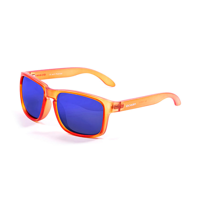 ocean sunglasses KRNglasses model BLUE SKU 19202.46 with matte black frame and revo green lens