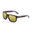 ocean sunglasses KRNglasses model BLUE SKU 19202.20 with matte brown frame and revo yellow lens