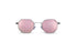 KYPERS sunglasses model BOBBY BO001 with silver frame and rose mirror lens