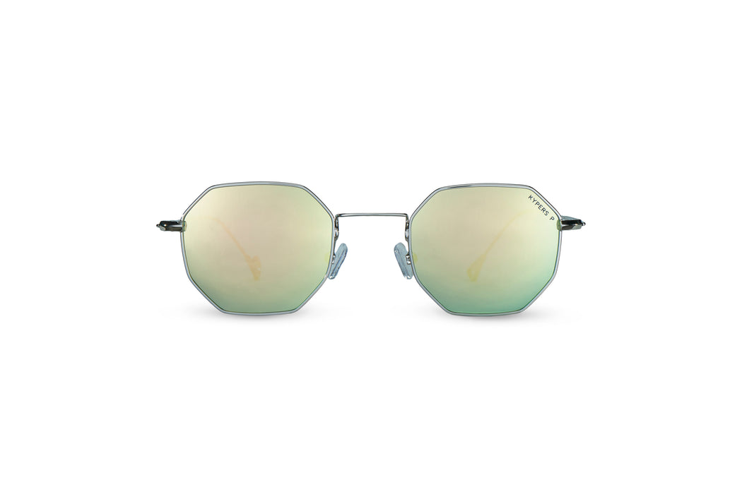 KYPERS sunglasses model BOBBY BO003 with silver frame and blue revo lens