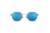 KYPERS sunglasses model BOBBY BO005 with silver frame and blue lens