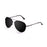 ocean sunglasses KRNglasses model BONILA SKU 18112.3 with shiny silver frame and silver lens