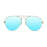 ocean sunglasses KRNglasses model BONILA SKU 18111.7 with shiny gold frame and green flat lens