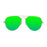 ocean sunglasses KRNglasses model BONILA SKU 18110.8 with matte black frame and green lens