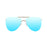 ocean sunglasses KRNglasses model BONILA SKU 18110.6 with silver frame and mirror lens