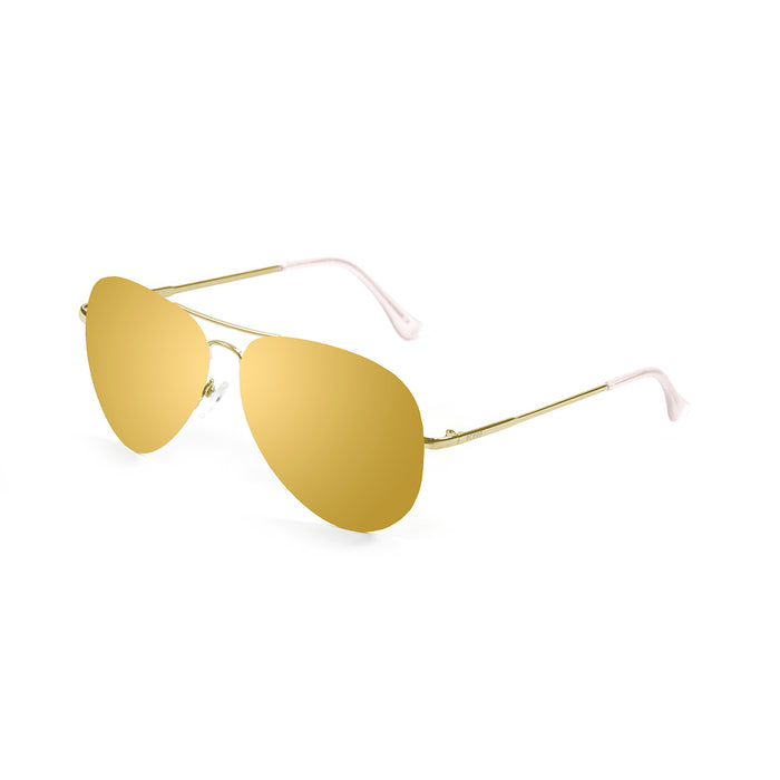 ocean sunglasses KRNglasses model BONILA SKU 18110.9 with gold frame and grand brown lens