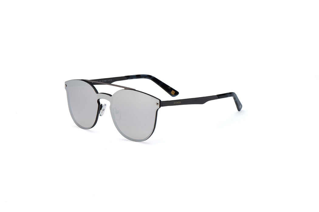 KYPERS sunglasses model BONNIE BN001 with gun frame and grey mirror lens