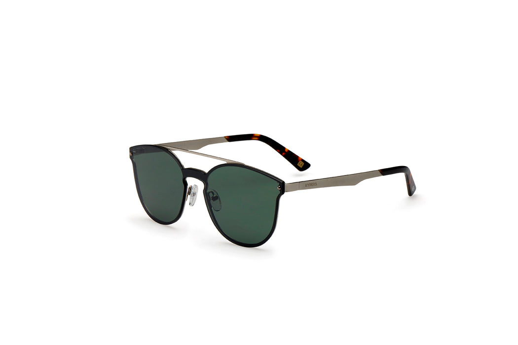 KYPERS sunglasses model BONNIE BN007 with silver frame and blue mirror lens