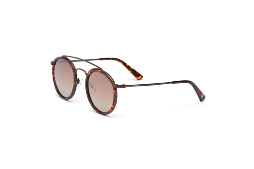 KYPERS sunglasses model BRATT BR001 with silver frame and dark havana lens