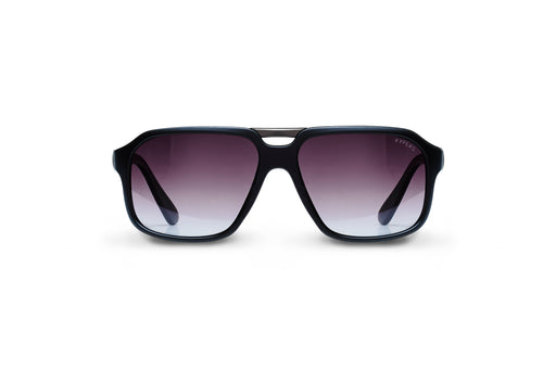 KYPERS sunglasses model BYRON BY001 with black frame and gradient grey lens