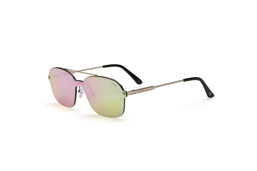 KYPERS sunglasses model CABANI CB002 with silver frame and pink lens