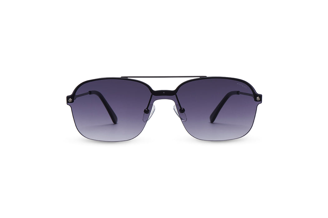KYPERS sunglasses model CABANI CB003 with gun frame and gradient grey lens