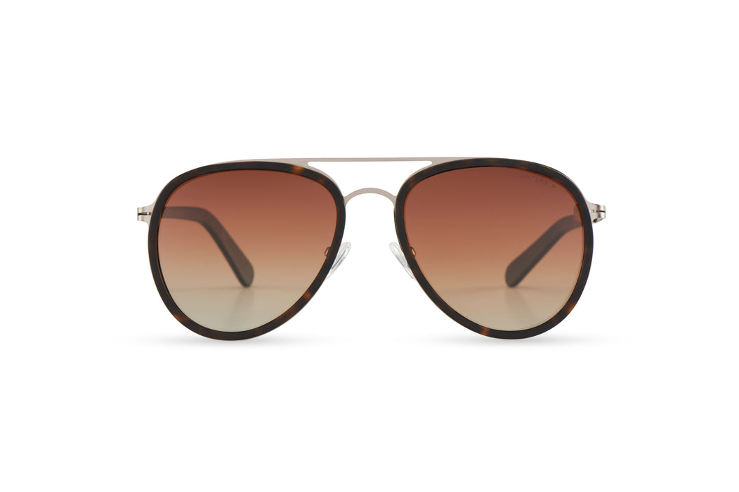 KYPERS sunglasses model CAMERON CM001 with black frame and silver mirror lens