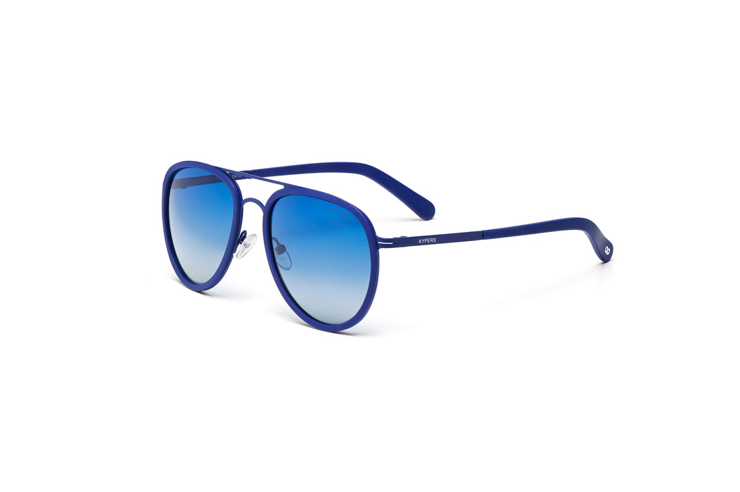 KYPERS sunglasses model CAMERON CM007 with navy blue frame and gradient blue lens