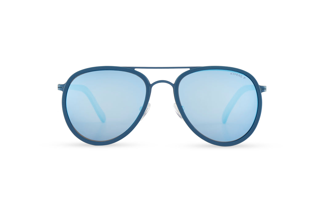 KYPERS sunglasses model CAMERON CM008 with ocean blue frame and blue revo lens