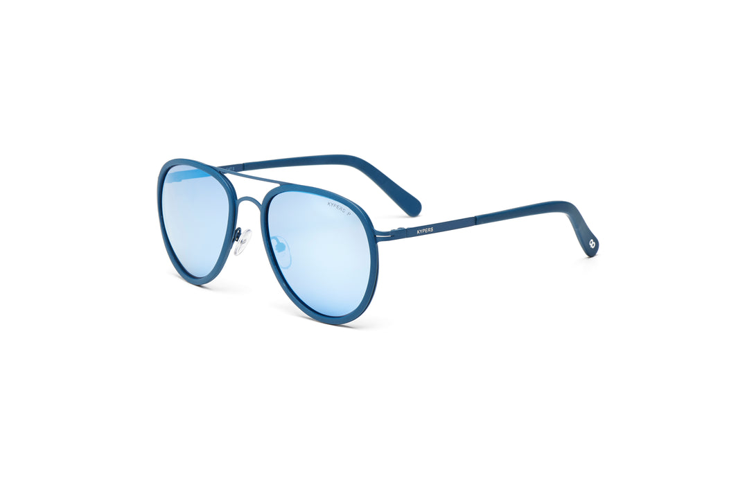 KYPERS sunglasses model CAMERON CM009 with purple frame and blue revo lens