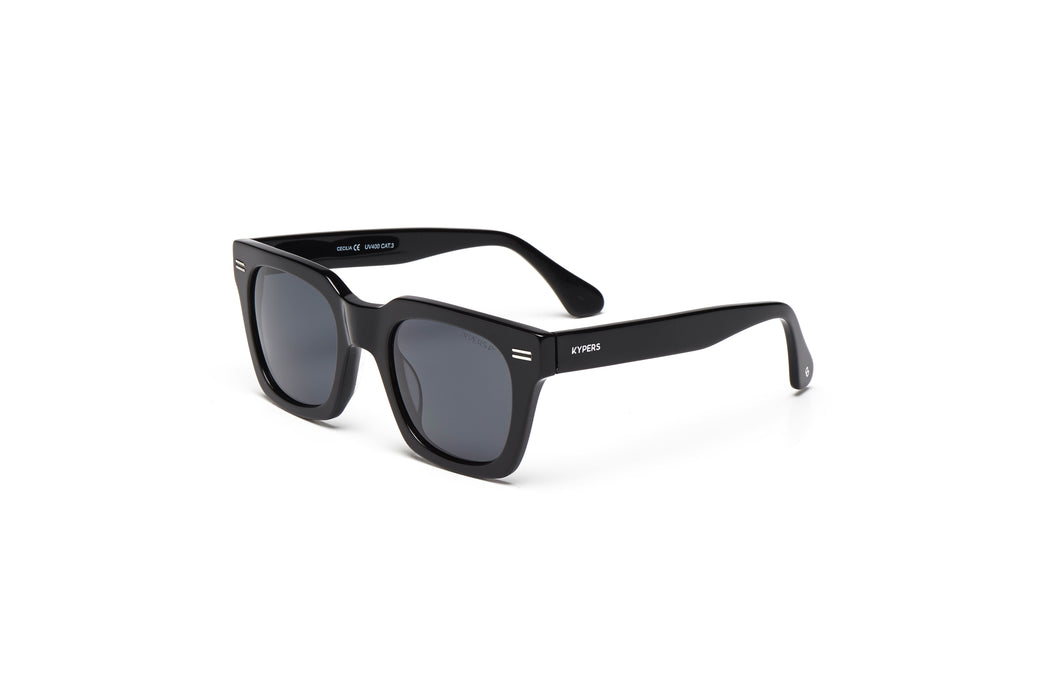 KYPERS sunglasses model CECILIA CE001 with black frame and grey lens