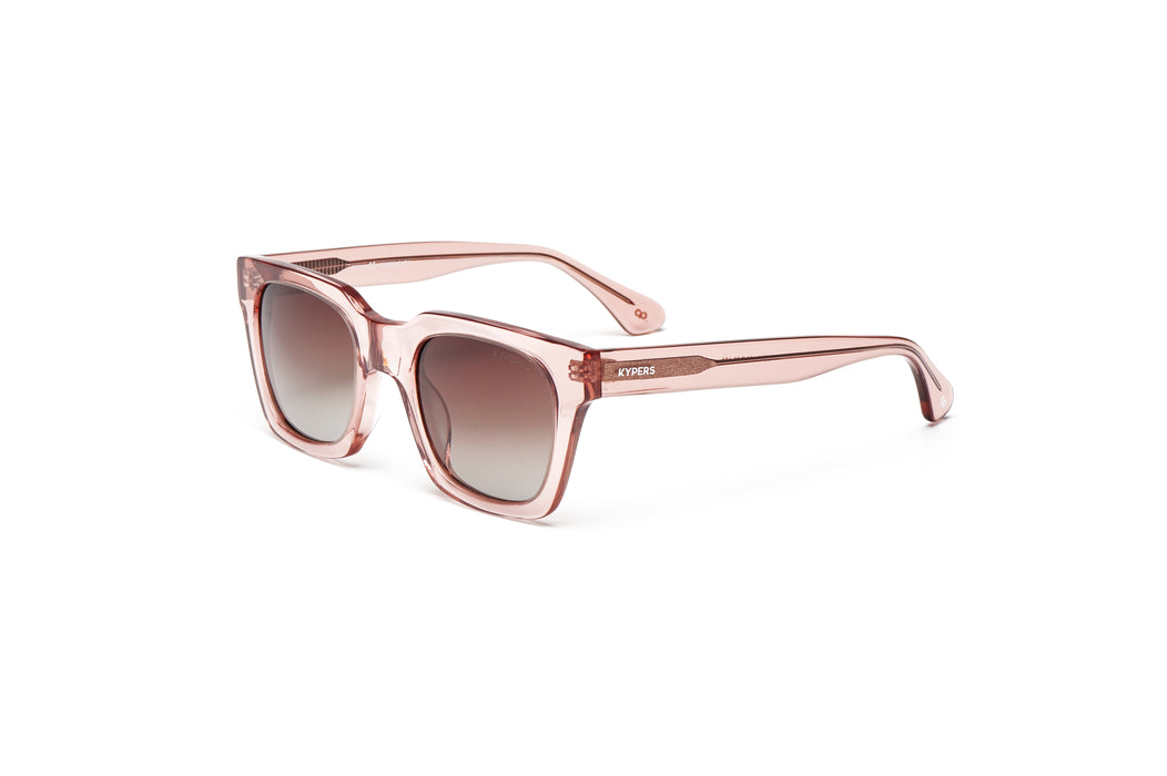 KYPERS sunglasses model CECILIA CE008 with glass pink frame and gold & pink revo lens