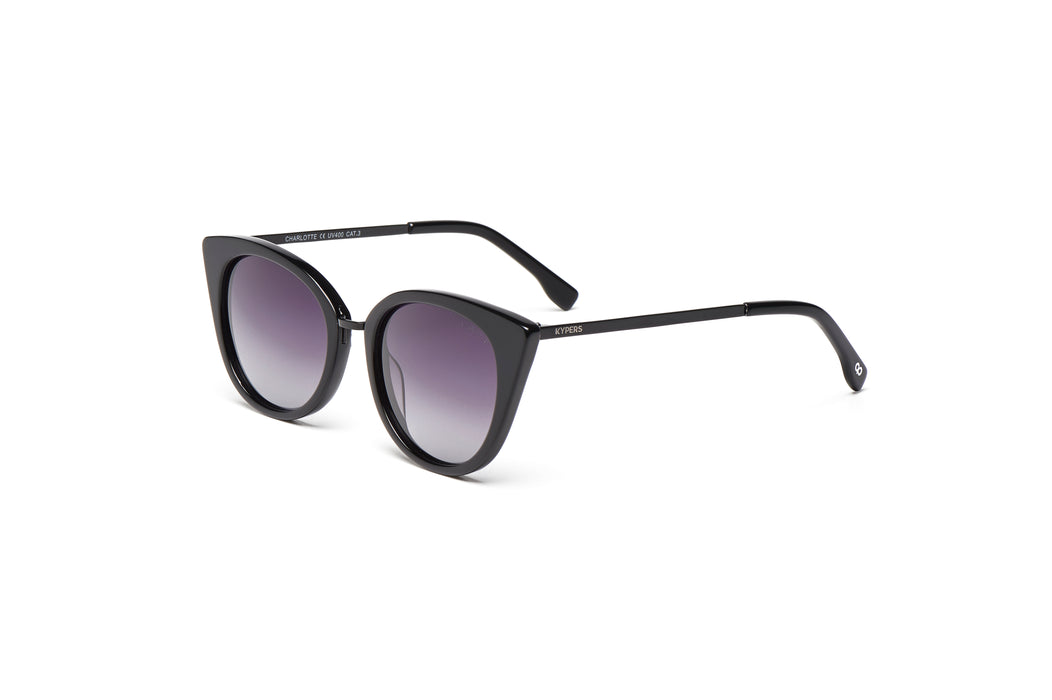 KYPERS sunglasses model CHARLOTTE CH002 with white frame and gold mirror lens
