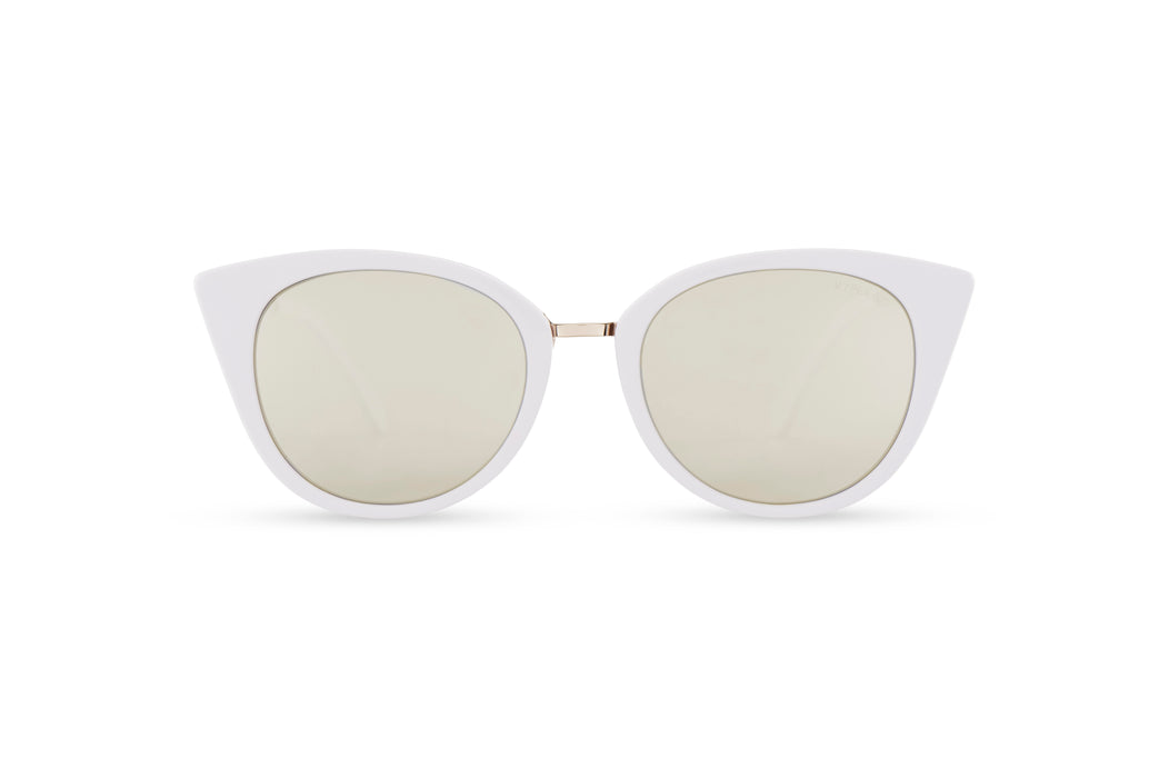 KYPERS sunglasses model CHARLOTTE CH003 with nude frame and pink revo lens