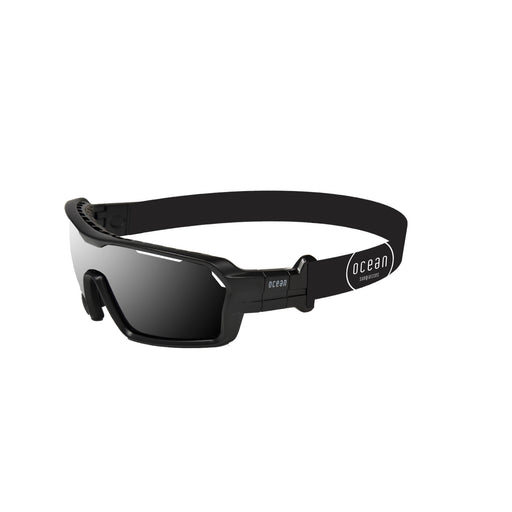 Ocean sunglasses model chameleon 3700.0X with matte black frame and smoke lens polarized eyewear for water sports
