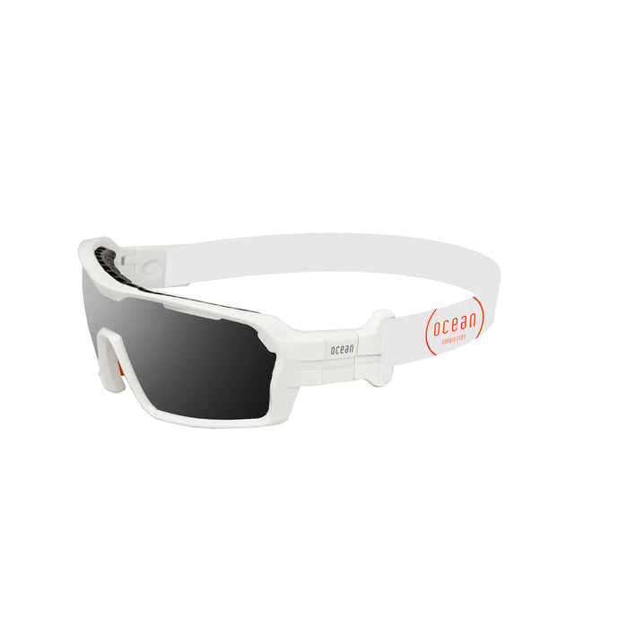 Ocean sunglasses model chameleon 3700.5X with matte red frame and revo red lens polarized eyewear for water sports