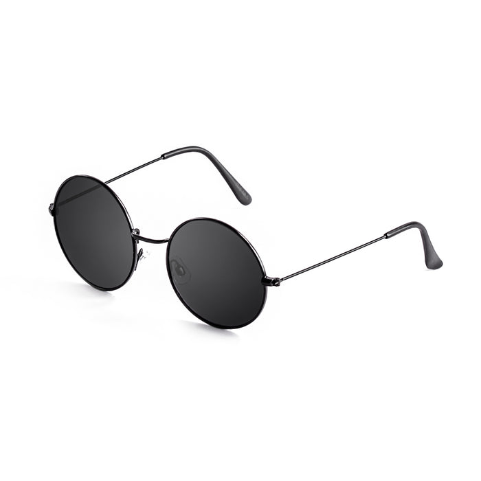 ocean sunglasses KRNglasses model CIRCLE SKU 10.1 with shiny silver frame and gradient brown lens