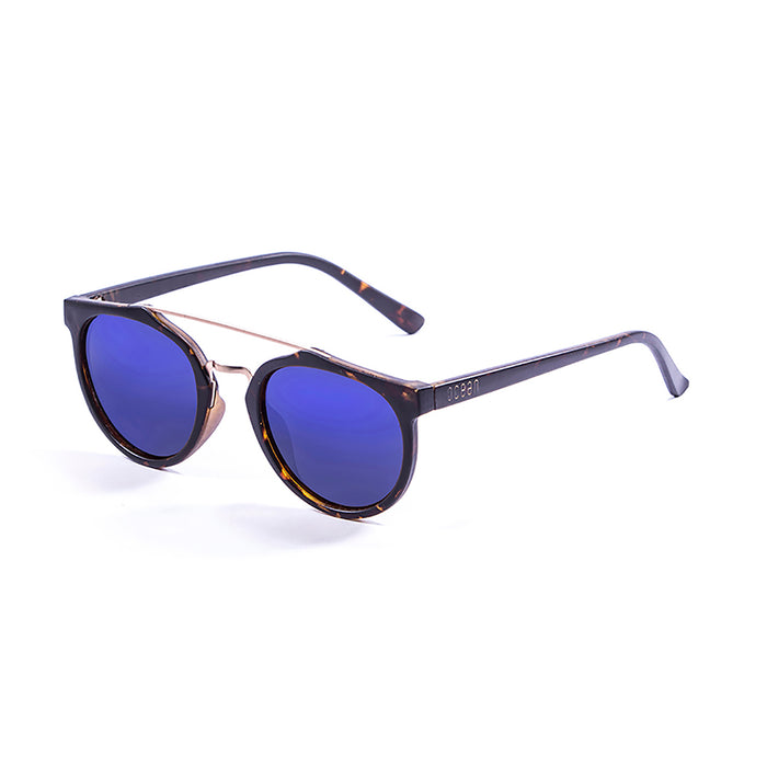 ocean sunglasses KRNglasses model CLASSIC SKU 73003.0 with matte black frame and revo green lens