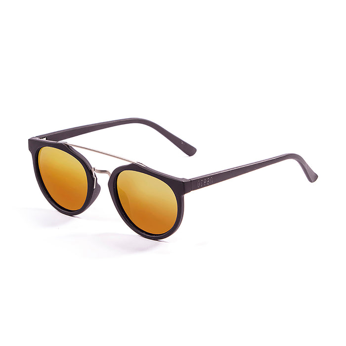 ocean sunglasses KRNglasses model CLASSIC SKU 73002.1 with demy brown frame and revo red lens