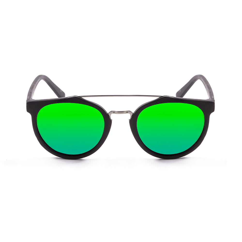 ocean sunglasses KRNglasses model CLASSIC SKU 73001.0 with matte black frame and revo blue lens