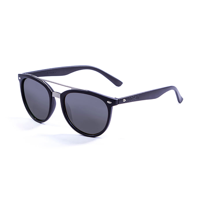 ocean sunglasses KRNglasses model CLASSIC SKU 74000.0 with matte black frame and smoke lens