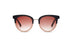 KYPERS sunglasses model COCO CO001 with black & nude frame and brown degrade lens