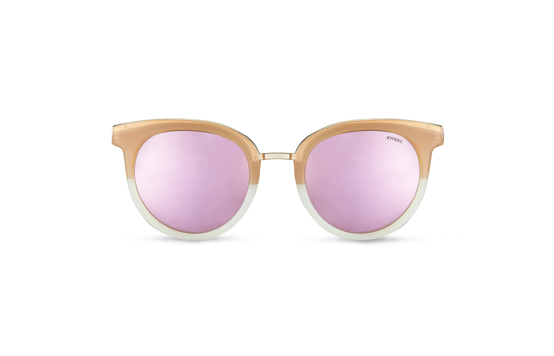KYPERS sunglasses model COCO CO003 with havana & blue frame and gold mirror lens