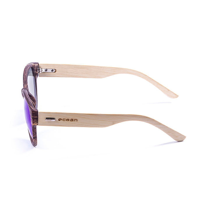 ocean sunglasses KRNglasses model COOL SKU 51000.3 with bamboo brown frame and smoke lens