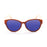 ocean sunglasses KRNglasses model COOL SKU 51001.1 with black frame and revo blue lens