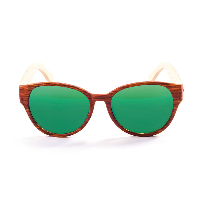 ocean sunglasses KRNglasses model COOL SKU 51000.2 with bamboo dark frame and smoke lens