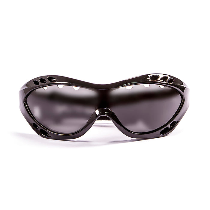 Ocean sunglasses model costa rica 11800.0 with matte black frame and smoke lens polarized eyewear for water sports