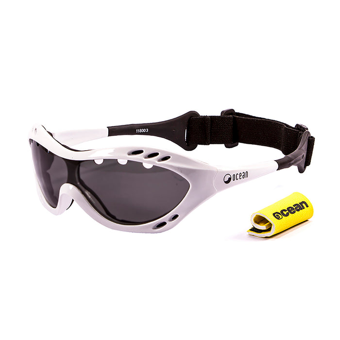 Ocean sunglasses model costa rica 11800.4 with matte red frame and smoke lens polarized eyewear for water sports
