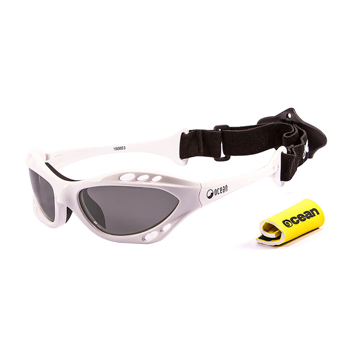Ocean sunglasses model cumbuco 15000.9 with shiny black frame and yellow lens polarized eyewear for water sports