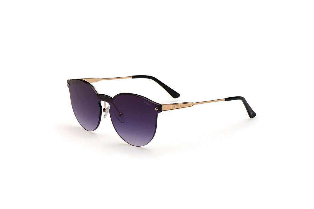 KYPERS sunglasses model DANIELA DA006 with gold frame and pink mirror lens