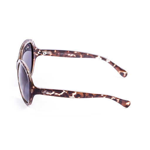ocean sunglasses KRNglasses model ELISA SKU 15300.2 with tortoise frame and smoke lens