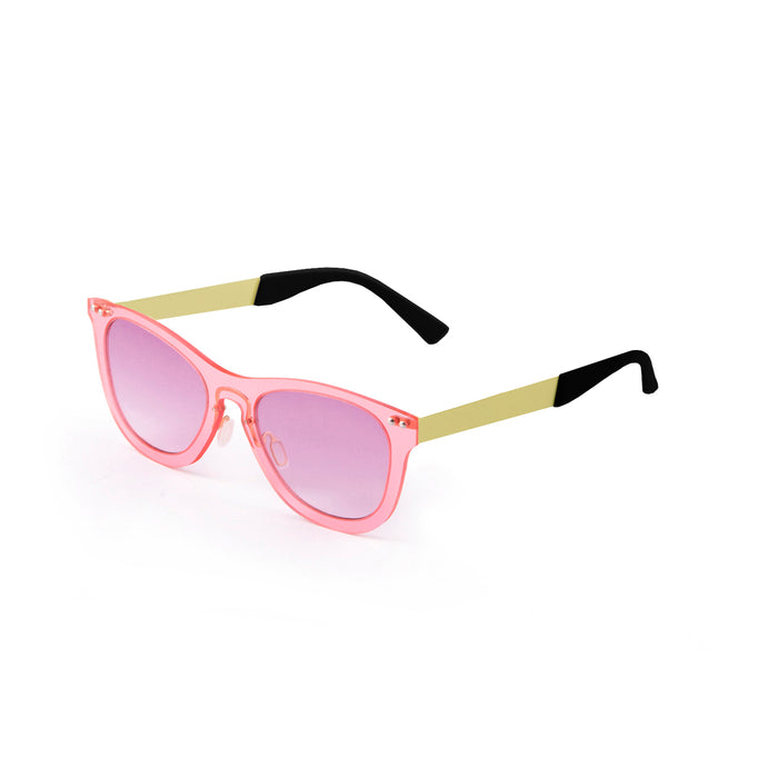 ocean sunglasses KRNglasses model FLORENCIA SKU 24.13 with transparent yellow frame and transparent gradient brown lens