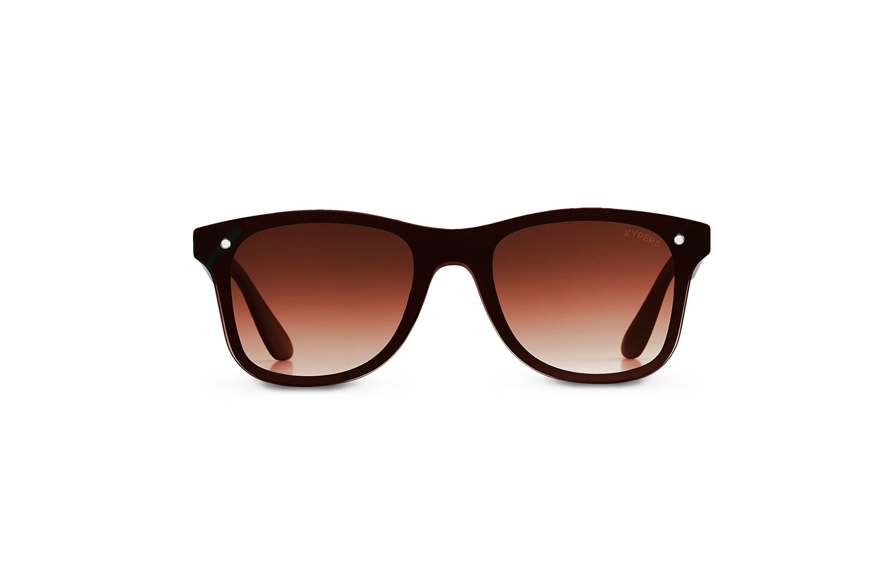 KYPERS sunglasses model FRANK FK001 with black frame and gradient brown lens