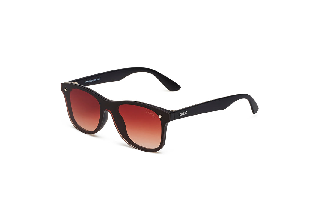 KYPERS sunglasses model FRANK FK002 with black frame and gradient brown & blue lens