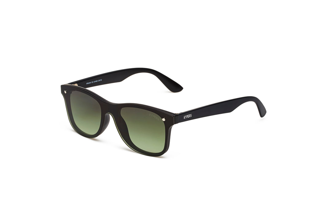 KYPERS sunglasses model FRANK FK008 with black frame and red mirror lens